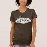 Signo positivo retro de Las Vegas de la sepia Camiseta