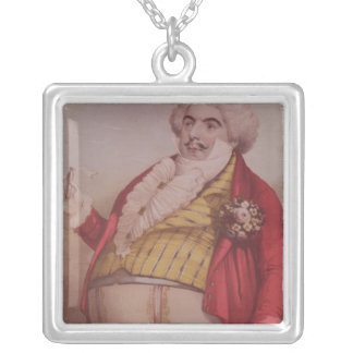Signor Lablache as Dr. Dulcamara Silver Plated Necklace