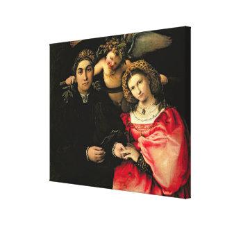 Signor Marsilio Cassotti and his Wife, Faustina Canvas Print