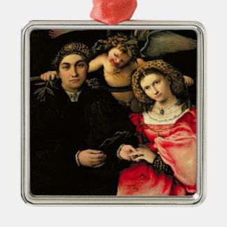 Signor Marsilio Cassotti and his Wife, Faustina Metal Ornament