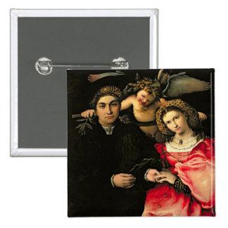Signor Marsilio Cassotti and his Wife, Faustina Pinback Button