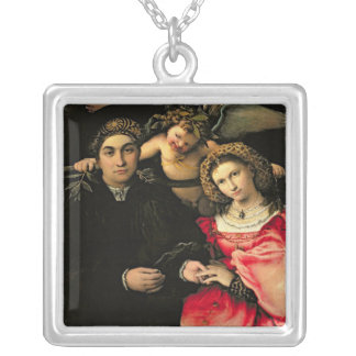 Signor Marsilio Cassotti and his Wife, Faustina Silver Plated Necklace