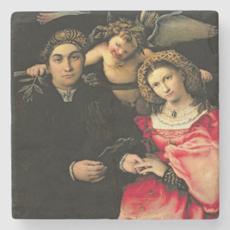 Signor Marsilio Cassotti and his Wife, Faustina Stone Coaster