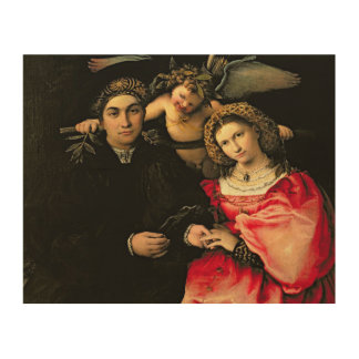 Signor Marsilio Cassotti and his Wife, Faustina Wood Wall Art