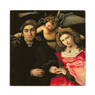 Signor Marsilio Cassotti and his Wife, Faustina Wooden Coaster