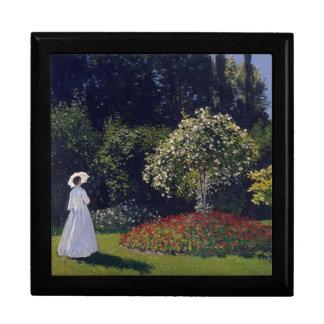 Signora at Gardino by Claude Monet Keepsake Box