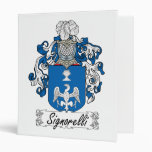 Signorelli Family Crest 3 Ring Binders