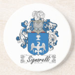 Signorelli Family Crest Drink Coasters