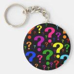 Signos de interrogación del arco iris llavero personalizado