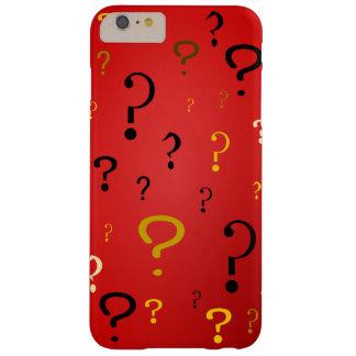 Signos de interrogación misteriosos funda de iPhone 6 plus barely there