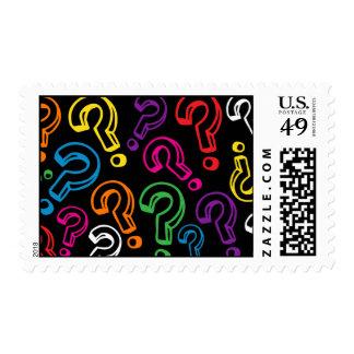 Signos de interrogación sellos postales