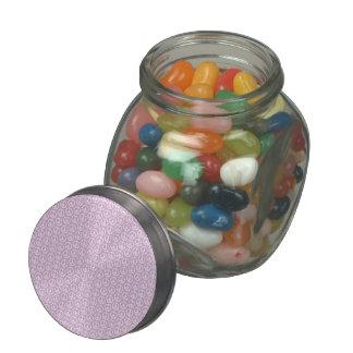 Signos de la paz blancos en lila en colores pastel jarrones cristal