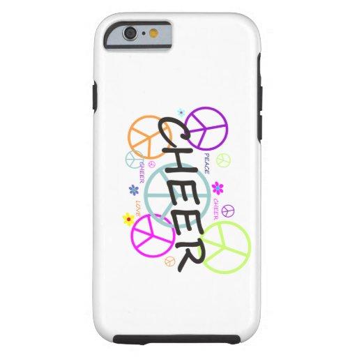 Signos de la paz coloreados alegría funda de iPhone 6 tough