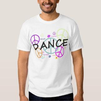 Signos de la paz coloreados danza remera