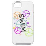 Signos de la paz coloreados nadada iPhone 5 coberturas