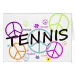 Signos de la paz coloreados tenis felicitacion