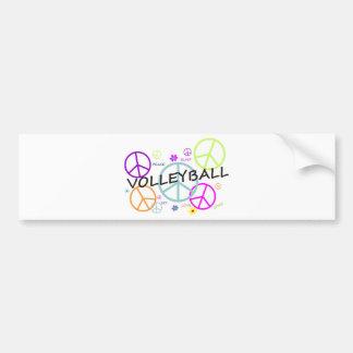 Signos de la paz coloreados voleibol etiqueta de parachoque