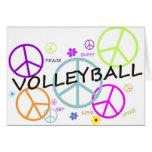 Signos de la paz coloreados voleibol felicitación