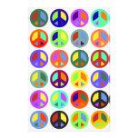 Signos de la paz coloridos papeleria