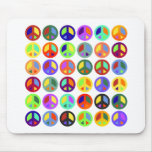 Signos de la paz coloridos tapetes de raton