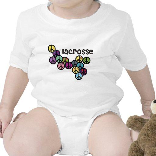 Signos de la paz de LaCrosse llenados Trajes De Bebé