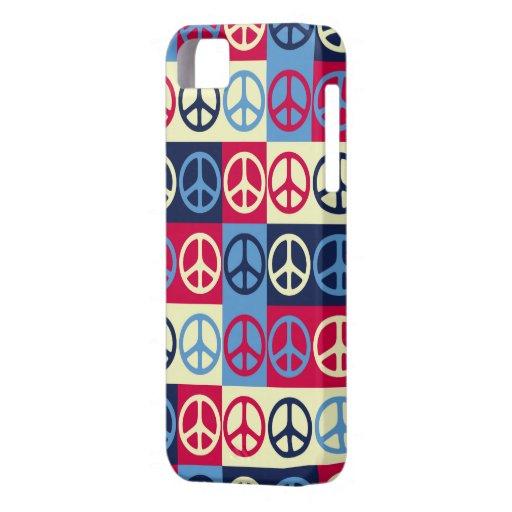 Signos de la paz del arte pop iPhone 5 fundas
