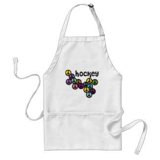 Signos de la paz del hockey llenados delantal