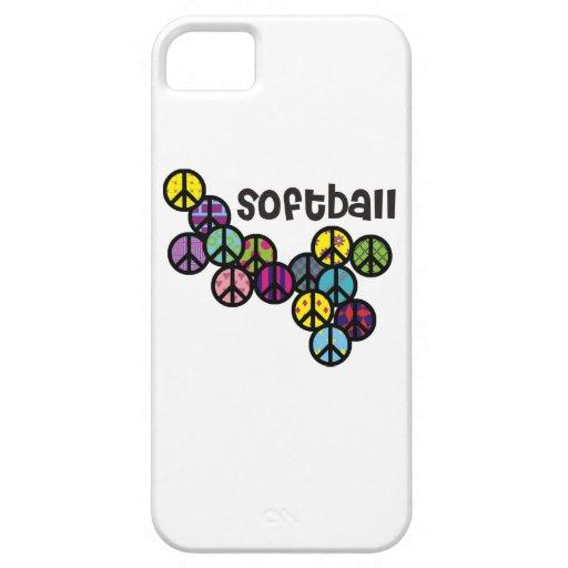 Signos de la paz del softball llenados iPhone 5 Case-Mate fundas