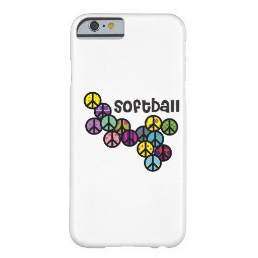 Signos de la paz del softball llenados funda de iPhone 6 barely there