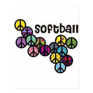 Signos de la paz del softball llenados tarjetas postales