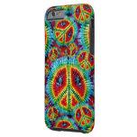 Signos de la paz del teñido anudado funda de iPhone 6 tough