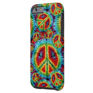 Signos de la paz del teñido anudado funda para iPhone 6 tough