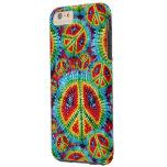Signos de la paz del teñido anudado funda de iPhone 6 plus tough