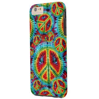 Signos de la paz del teñido anudado funda para iPhone 6 plus tough
