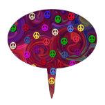 Signos de la paz en remolino colorido figura de tarta
