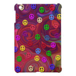 Signos de la paz en remolino colorido iPad mini coberturas