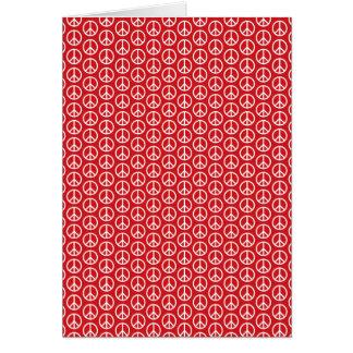 Signos de la paz en rojo del día de fiesta tarjeta pequeña