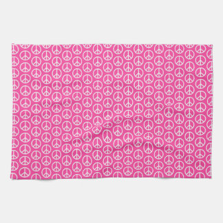 Signos de la paz en rosa brillante toalla de mano