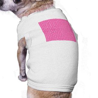 Signos de la paz en rosa brillante playera sin mangas para perro