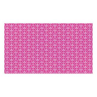 Signos de la paz en rosa brillante tarjetas de visita