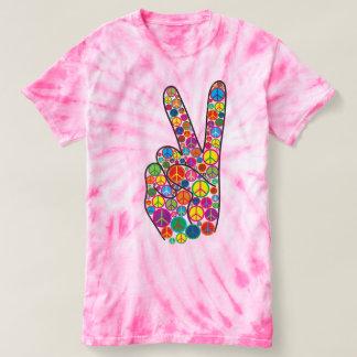 Signos de la paz frescos, coloridos, y playera