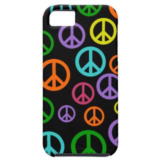 Signos de la paz multicolores funda para iPhone SE/5/5s