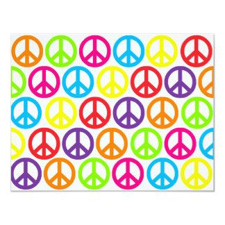 Signos de la paz multicolores múltiples anuncio