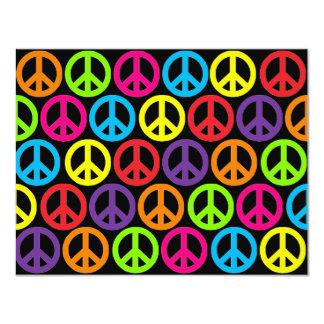 Signos de la paz multicolores múltiples anuncios