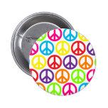 Signos de la paz multicolores múltiples pin