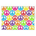 Signos de la paz multicolores múltiples felicitaciones