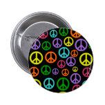 Signos de la paz multicolores pins