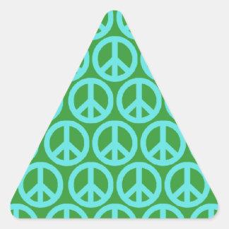 Signos de la paz calcomanía triangulo personalizadas