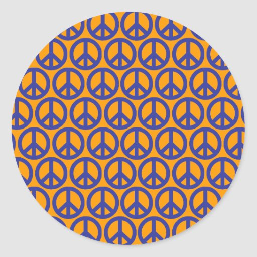 Signos de la paz pegatina redonda