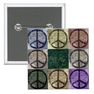 Signos de la paz pin cuadrado